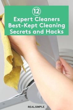 12 Expert Cleaners Best-Kept Cleaning Secrets | We reached out to pro cleaners for their 12 proven solutions to some of the toughest cleaning tasks we all face in our cleaning routine. These experts know exactly which pantry supply to reach for to fight and deep clean common stains and cleaning problems. #cleaningtips #cleanhouse #realsimple #stepbystepcleaning #cleaninghacks #cleaningguide