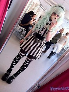 pastel goth creepy cute