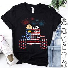 Jeep American flag Snoopy and Charlie Brown fireworks shirt is the product that we spent most of our time to design and produce. Jeep, American flag, Snoopy, Charlie Brown, fireworks will definitely help you to be a fashional person. Jeep Sayings, Jeep Quotes, Peanuts T Shirts, S Williams, Jeep Decals, Jeep Shirts, Jeepers Creepers, Cool Jeeps, Jeep Jeep
