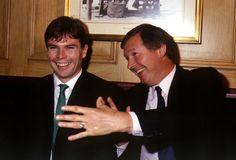Brian McClair with Alex Ferguson