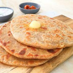 Spicytamarind - Mooli Paratha Chapati Flour, Rice Bread, Stuffing Ingredients, 2000 Calories, 2000 Calorie Diet, Whole Wheat Flour, Love Eat, Breakfast Dishes, Garam Masala