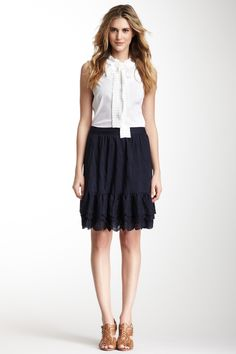 SALE :Tory Burch Jasey Embroidered Skirt