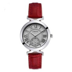 Ladies Elegant Leather Quartz Waterproof Fashion Watch 7 Colors