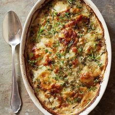 Crispy bacon and fresh herbs add new flavor to our Parmesan Potato Gratin.
