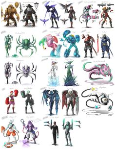Skin Sketches 2 by VegaColors - amazing league of legends skin concepts