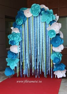 Paper blue arch