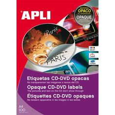 Comprar Etiquetas Cd-Dvd Mega Dorso Opaco ø 114 mm Apli 10294 #multimedia #etiquetas #blancas #CD #DVD #mega #dorso #opaco