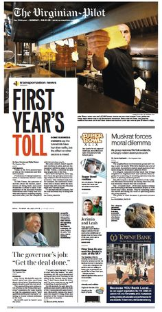 The Virginian-Pilot's front page for Sunday, Feb. 1, 2015.