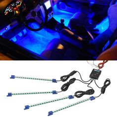 Blue LED Interior Underdash Lighting Kit LedGlow,http://www.