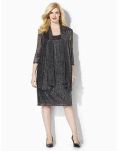 Shimmer Glitz Jacket Dress   Catherines
