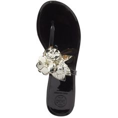da2218e85f55c5 Women s Tory Burch Blossom Jelly Flip Flop ( 84) ❤ liked on Polyvore  featuring shoes