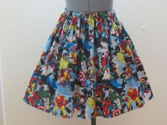 Marvel Smashed Skirt  Captain America  Thor  The by AquamarCouture, $42.00