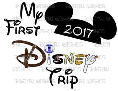 My first Disney trip Mickey Mouse hat ears with Star Wars font 2017 INSTANT DOWNLOAD digital clip art :: My Heart Has Ears