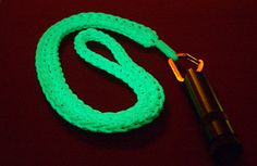 Cool Glow Stuff - These Braided knots were made with 3/32 Glow Rope by David A.K.A stormdrane, you can see how he made these items by visiting his blog at http://stormdrane.blogspot.com.