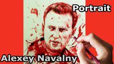 Алексей Навальный. Портрет шариковой ручкой