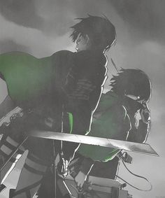 Fight until we're done with you: Levi and Mikasa, Shingeki no Kyojin