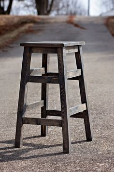 These simple wood stools are so beautiful!  Solid wood too!  Amazing that they only took about an hour each to make!  Don't you love the finish too?