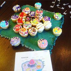 Cupcake animal cell School Hacks, School Projects, Edible Cell Project, Animal Cell Project, Biology, Anatomy, Cupcake, Homeschool, Science