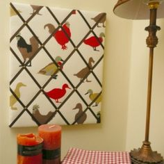 An ideal fabric notice board for a country chicken....by Irish Designer Max's Boardroom