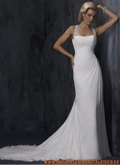 Sexy Moderne Schicke Brautkleider aus Chiffon mit Schleppe