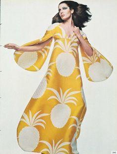 vintage pineapple print maxi {Gian Paolo Barbieri 1969 Vogue Italia}