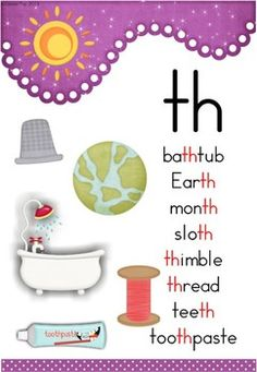 """th"" Digraph 20 Games-Activities-Worksheets. Poster included in the unit."