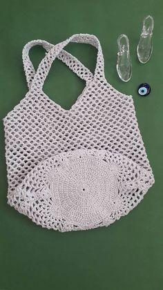 El Yapımı File Çanta - Tie Tutorial and Ideas Knitting Designs, Knitting Patterns Free, Crochet Patterns, Crochet Designs, Bag Patterns, Hand Knit Bag, Magic Bag, Crochet Market Bag, Knitted Bags