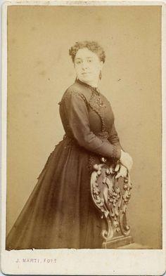 Martí, Juan: retrato de la señora Reig, CDV 1868.  Hesperus´ Collection