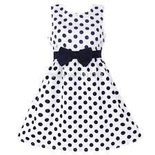 New Fashion Girls Dresses Blue Dot Cotton Sundress Party Birthday Casual Baby Children Clothes Size Ropa de niña, Girls Blue Dress, Girls Dresses, Summer Dresses, Tank Girl, Dress With Bow, The Dress, Kids Outfits Girls, Girl Outfits, Frock For Teens
