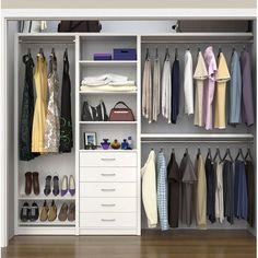 ClosetMaid SpaceCreations 64 W 99 W Closet System Wardrobe Design Bedroom, Master Bedroom Closet, Bedroom Decor, Bedroom Storage, Master Bath, Closet Renovation, Closet Remodel, White Wardrobe Closet, Wardrobe Storage