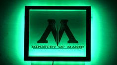 Светильник  с логотипом Министерства Магии. Nightlight with Ministry of Magic