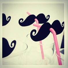 Mustache straws.
