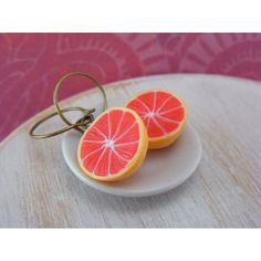 grapefruit earings