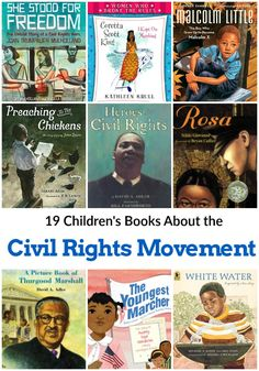 19 Childrens Books About the Civil Rights Movement - these books for kids are perfect for Black History Month or any time of year. American History Lessons, History For Kids, African American History, Native American, Early American, Black History Books, Black History Month, Modern History, Black Children's Books