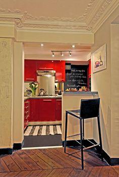 Paris Arrondissement 6 Vacation Rental - VRBO 112744 - 2 BR Paris Apartment in France, Rent a Lavish Apartment by Luxembourg Garden French Bistro Decor, Bistro Kitchen Decor, French Bistro Kitchen, Kitchen Decor Themes, Kitchen Styling, Kitchen Ideas, Kitchen Designs Photos, Parisian Apartment, Küchen Design