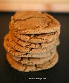 Peanut-BETTER Gingersnap Cookie Recipe from the Looneyspoons Collection