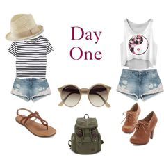Day One by sara1096 on Polyvore featuring polyvore fashion style Enza Costa Zara Ray-Ban Express