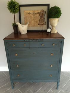 """After a bit ofapprehension, I finally pulled this dresser out of our garage this past week. I found this dresser awhile ago on Craigslist and have been hesitant to do anything with it for several reasons. First, as you can see, it was in pretty rough shape. I knew this was not going to be a """"s"""