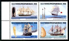 Micronesia 113A MNH British Whaleships Lyra Prudent Rhone Sussex London90 X5615 | eBay