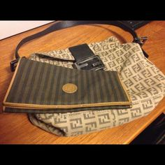 100%Authentic Fendi Purse&Wallet Both the purse and wallet have no rips no damage.The purse has a stain pretty sure easy to come off.Used in good condition especially for its age.Price is set for both.Purse has fade it cause of its age other then that this r in a good vintage condition. FENDI Bags Mini Bags