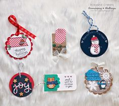 In My Creative Opinion: 25 Days of Christmas Tags - Day 25 (Lawn Fawn tags by Roxanne O'Brien) 25 Days Of Christmas, Christmas Gift Tags, Holiday Cards, Christmas Crafts, Christmas Ideas, Thanksgiving Wishes, Candy Cards, Tag Design, Scrapbook Cards