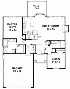 http://www.westhomeplanners.com/House-Plan-1473.html. 1091sf, 2/2/basement