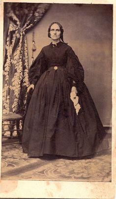 Woman in Mourning, Circa 1864, Albumen Carte de Visite