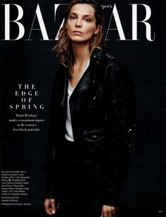 Daria Werbowy by Daniel Jackson for Harper's Bazaar US Feb 2014