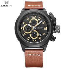 23.98$  Watch now - http://ali39s.shopchina.info/1/go.php?t=32737172314 - MEGIR Men Chronograph Waterproof Multifunction Casual Watch Auto Date Sport Military Watches Engraved Dial Relogio Masculino  #buyonlinewebsite