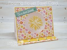 Carussell Crafts: Colour Creations Week 7 - Bumblebee Fun Fold Cards, Folded Cards, Spinner Card, Color Contour, Square Envelopes, Floating Flowers, Easel Cards, Pansies, Stampin Up