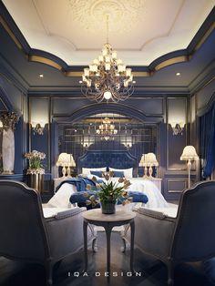 Luxus-Hauptschlafzimmer im Behance - Scha Luxury Bedroom Design, Master Bedroom Design, Dream Bedroom, Home Bedroom, Master Suite, Bedroom Decor, Bedroom Sets, Royal Bedroom, Bedroom Country