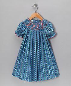 Blue Candy Cane Bishop Dress - Infant, Toddler & Girls