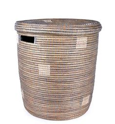 Silver Dot African BasketSilver Dotted Peace Corps Hamper | Swahili Modern