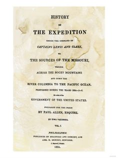 Title Page of the First Publication of Lewis and Clark's Journal and Notes, c.1814 Giclee Print